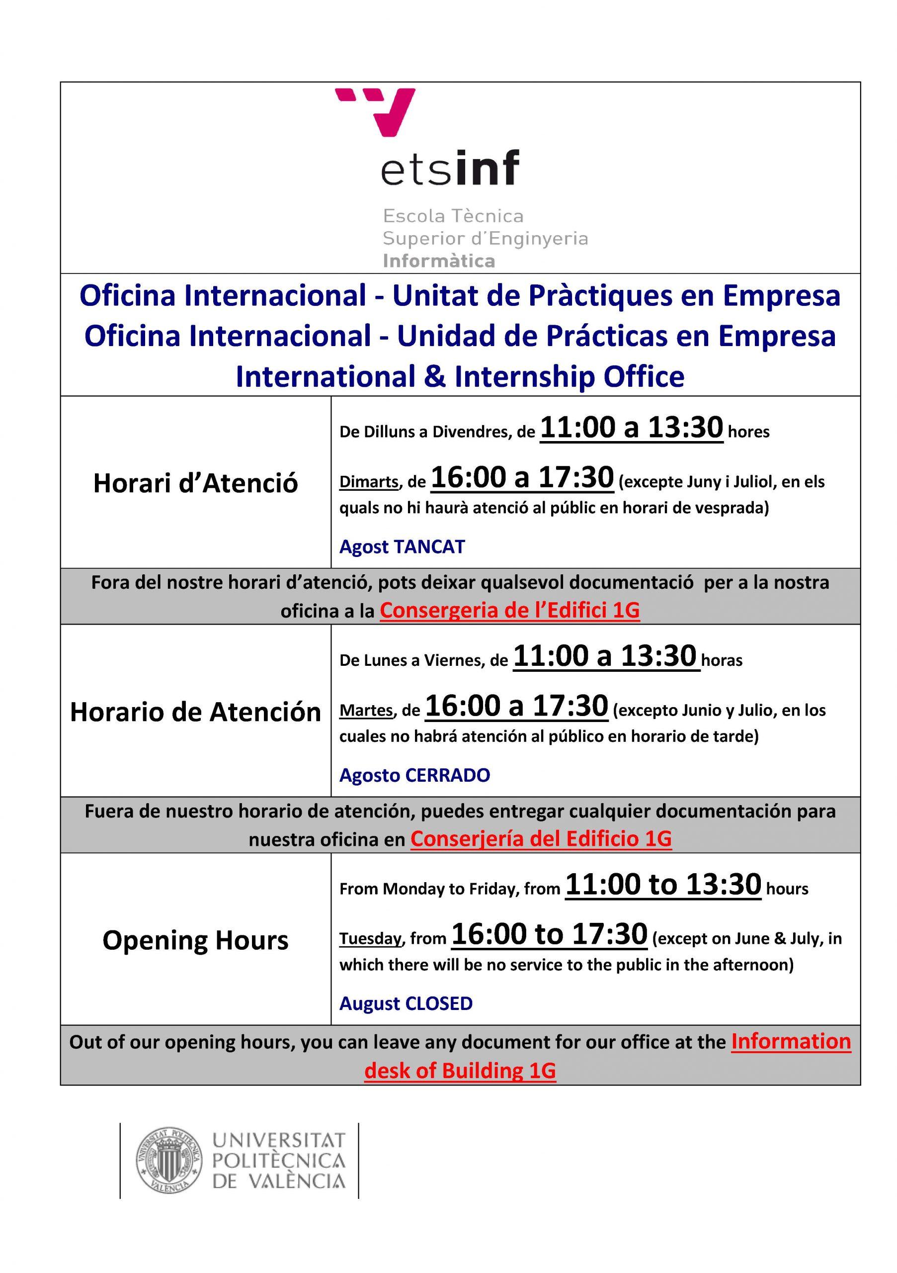 Horari oficina porta EN-ES-VA 2020